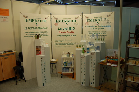 Exemple de stand (laboratoire Emeraude) pour un salon